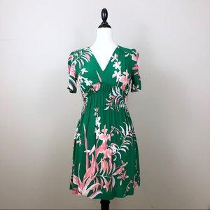 Anthropologie HD in Paris Green Floral Dress